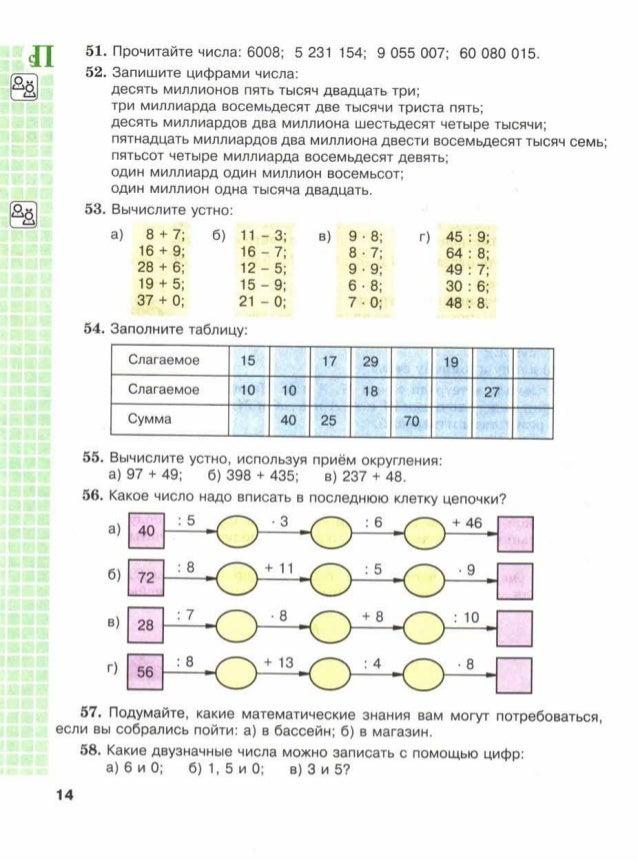 Виленкин 5 класс форзац учебника кроссворд
