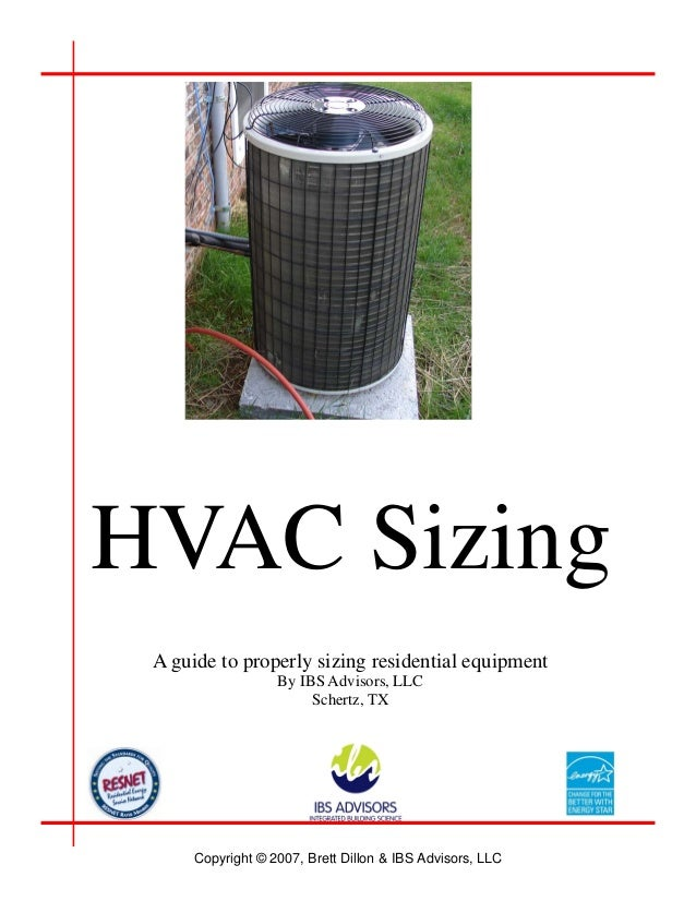 Residential hvac sizing for How to properly size a furnace for a house