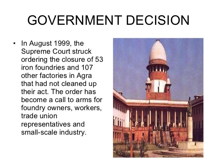 air pollution case study taj mahal Similarly, section 278 of the ipc also provides penalty for air pollution: making   in case of contravention of any of these provisions of the act, the occupier of the   the court set up another committee to study the impact of the b category   about slaughterhouses in regard to the pollution in and around the taj mahal.