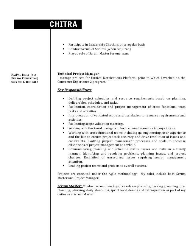 chitra kumar resume - Scrum Master Resume