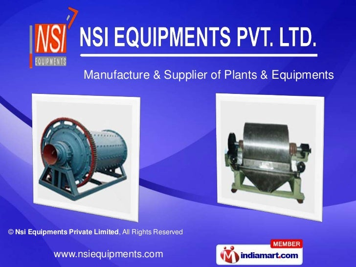 Manufacture & Supplier of Plants & Equipments<br />