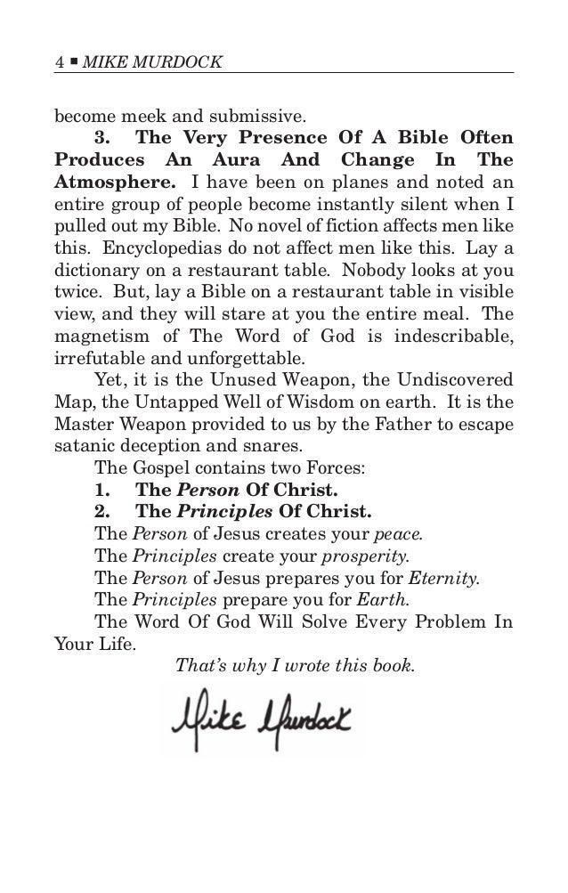 dr mike murdock books pdf