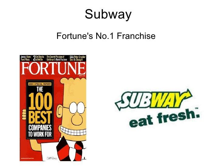 Subway Fortune's No.1 Franchise