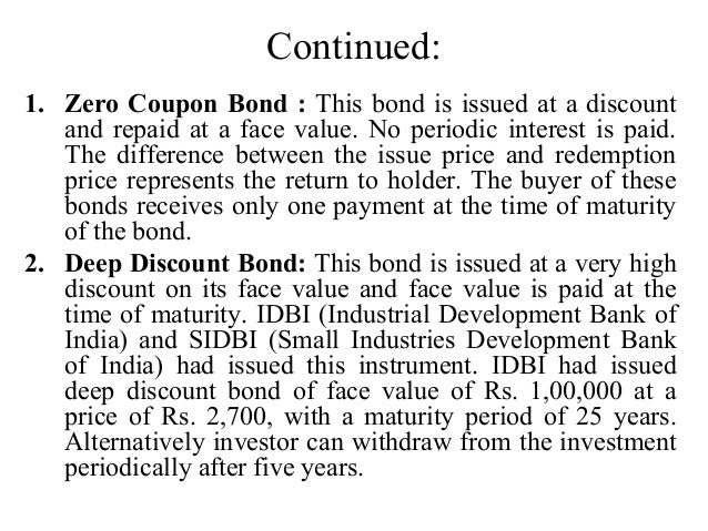 Difference between coupon bond and discount bond