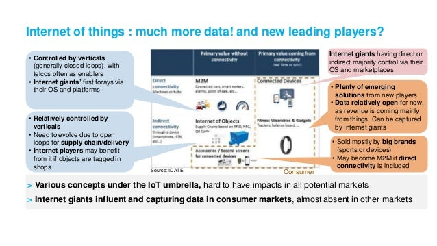 Internet of Things New ecosystems or another bastion for the usual suspects? - Vincent BONNEAU, IDATE - DigiWorld Summit 2014 Slide 3