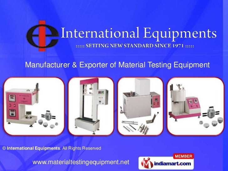 Manufacturer & Exporter of Material Testing Equipment<br />