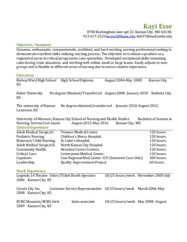 icu rn resume sample new grad resume sample - Sample Nurse Resumes