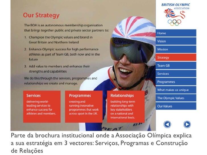 The Hyper l i nk Net w or k     A Rede de Hiperligações em torno do website da Associação                     Olimpica Bri...