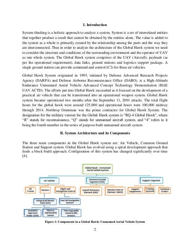 System Architecture Study Global Hawk Unamanned Aerial System (UAS)