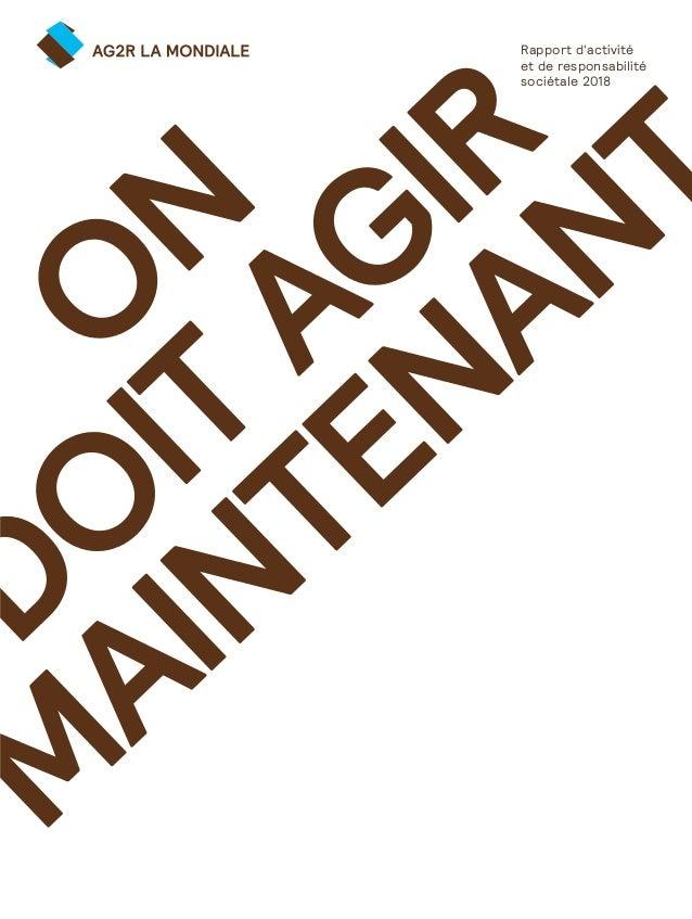 Ag2r La Mondiale Rapport Annuel 2018