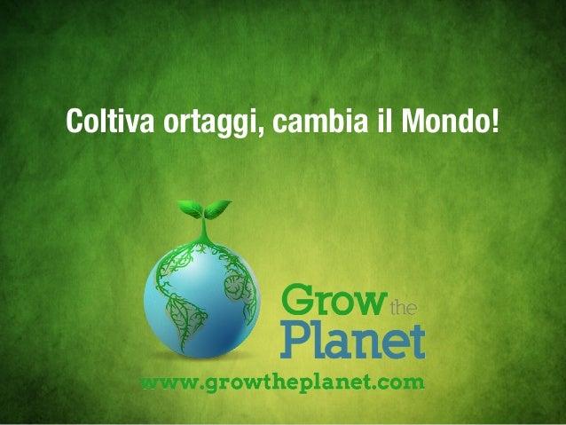 Coltiva ortaggi, cambia il Mondo!
