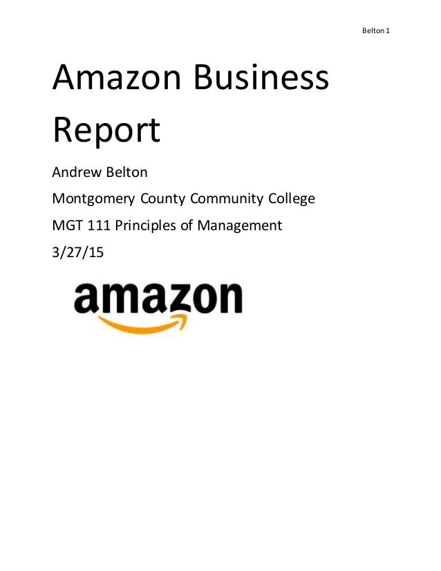 Amazon.com Business Report