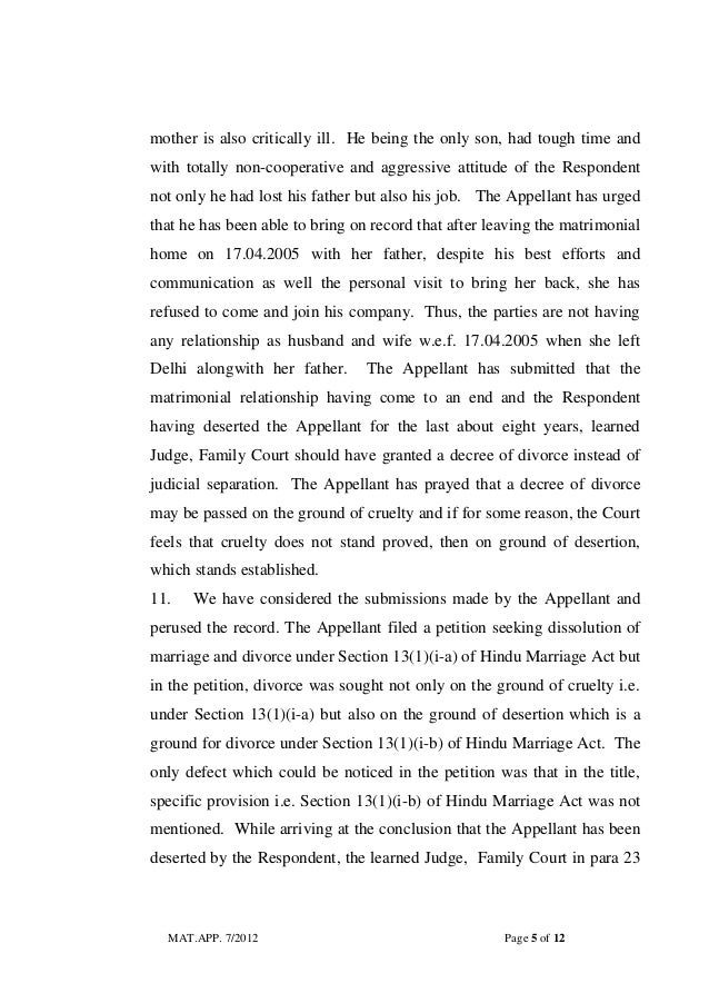 Judgement Of High Court Of Delhi