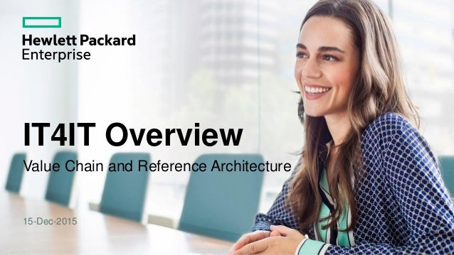 IT4IT Overview Value Chain and Reference Architecture 15-Dec-2015