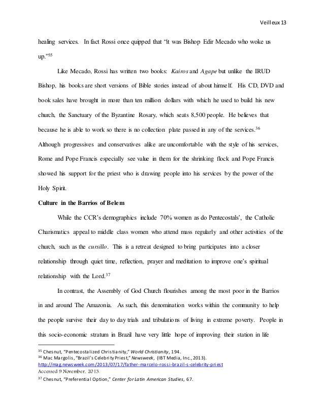 Brazil's Charismatic Catholic and Pentecostal population
