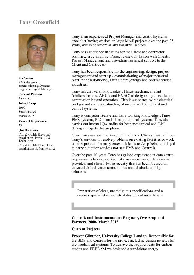 Tony Greenfield Cv 23 March 2015 Pdf