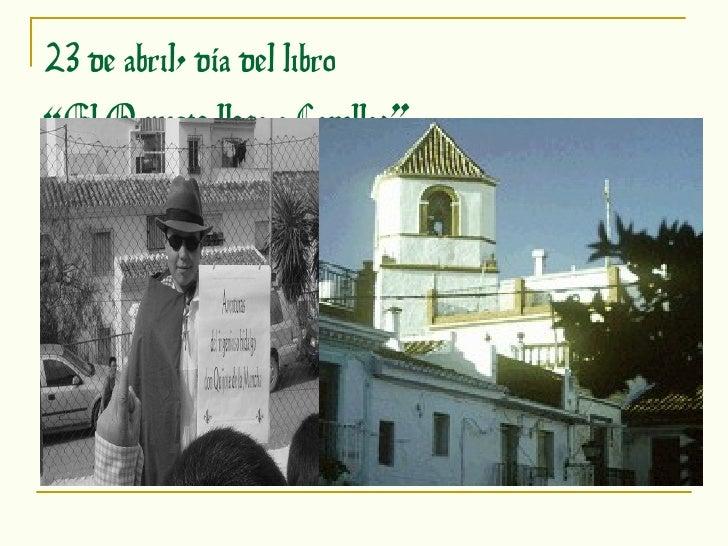 """23 de abril, día del libro """"El Quijote llega a Canillas"""""""
