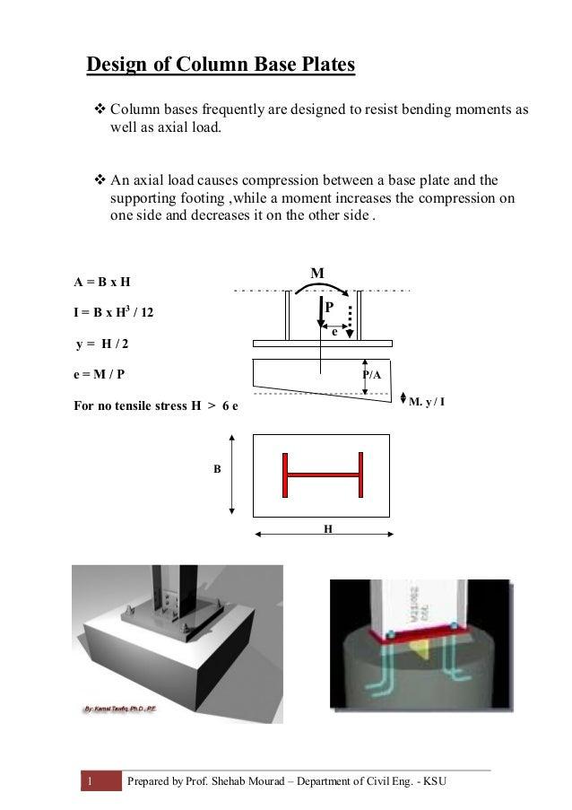 23-Design of Column Base Plates (Steel Structural Design & Prof  Sheh…