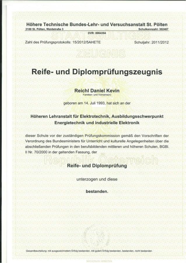 Höhere Technische Bundes-Lehr- und Versuchsanstalt St. Pölten 3100 St. Pölten, W:tldstraße 3 Stammblatt-Nr. 15 Schuljahr 2...
