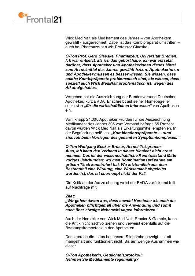 Wick MediNait als Medikament des Jahres – von Apothekern gewählt - ausgerechnet. Dabei ist das Kombipräparat umstritten – ...