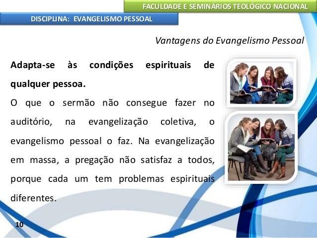 FACULDADE E SEMINÁRIOS TEOLÓGICO NACIONAL DISCIPLINA: EVANGELISMO PESSOAL Promove o crescimento da igreja A igreja dos dia...