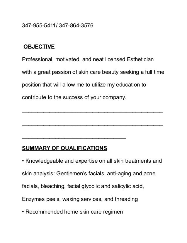 makeup artist resume objective - Makeup Artist Resume