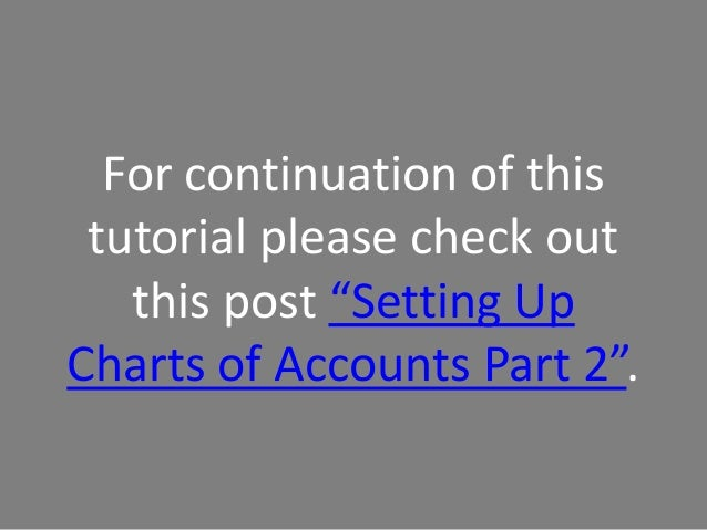 How to Set Up Chart of Accounts in QuickBooks Online Part 1