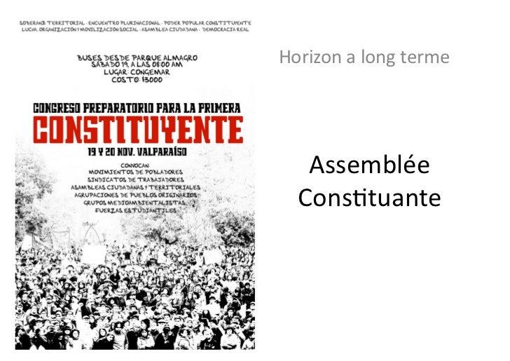 """Débat """"Bilan et perspectives du mouvement social et des étudiants au Chili"""""""