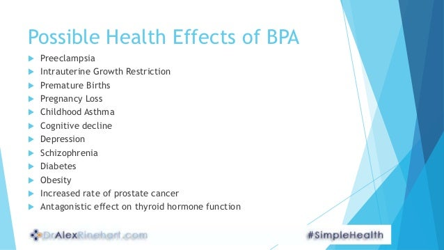 effects of bisphenol a Few endocrine-disrupting compounds have generated as much debate during the past decade as bisphenol a (bpa) bpa was first synthesised in 1891, and was investigated for clinical use as a synthetic oestrogen in the 1930s the first epoxy resins made with bpa went into commercial production in the 1950s and today.