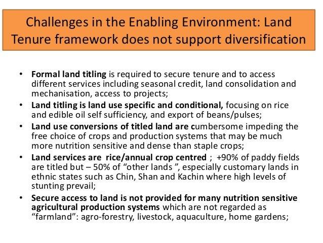 Making Myanmar's Land Use Regulatory Framework More Nutrition-Sensitive Slide 3