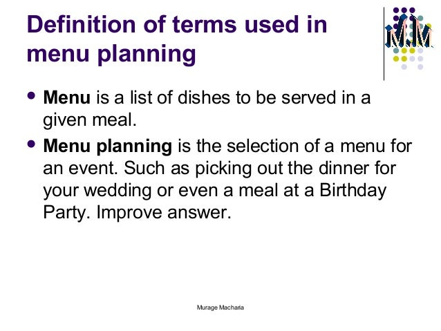 event planning guide glossary of terms