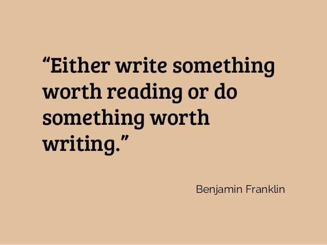 What do you believe about writing