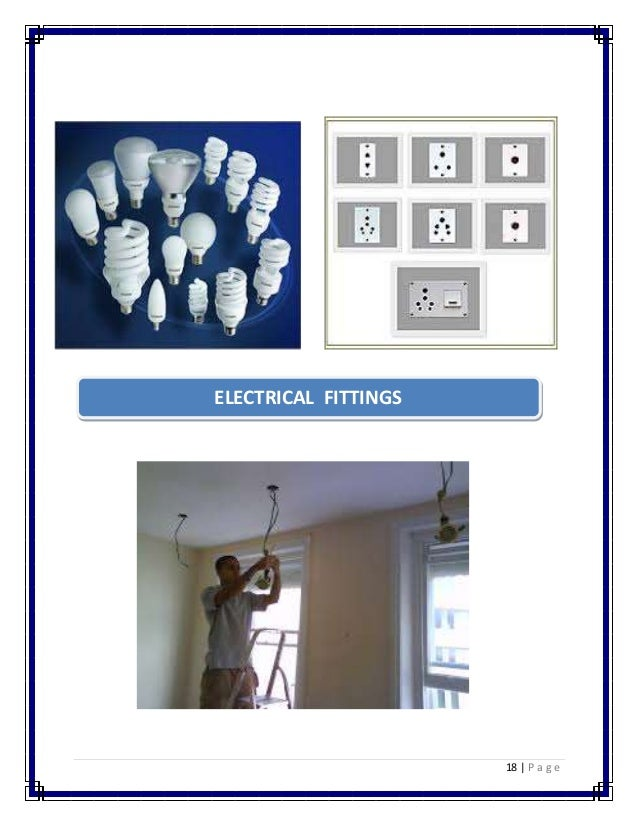 18 | P a g e  ELECTRICAL FITTINGS