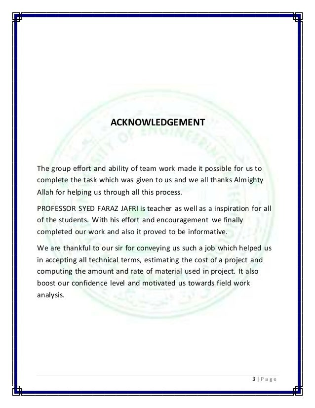 3 | P a g e  ACKNOWLEDGEMENT  The group effort and ability of team work made it possible for us to  complete the task whic...