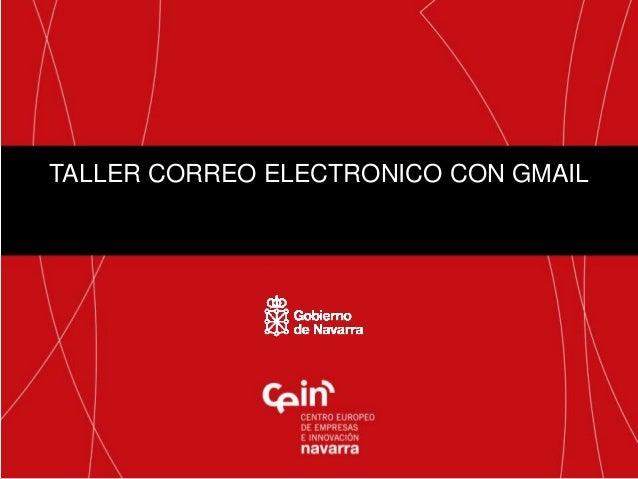 TALLER CORREO ELECTRONICO CON GMAIL