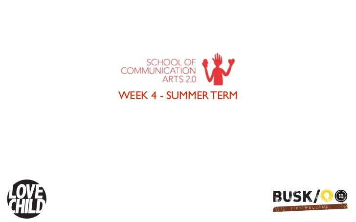 WEEK 4 - SUMMER TERM                       T I TPI S                               P   S   W E L CCO O EM E               ...