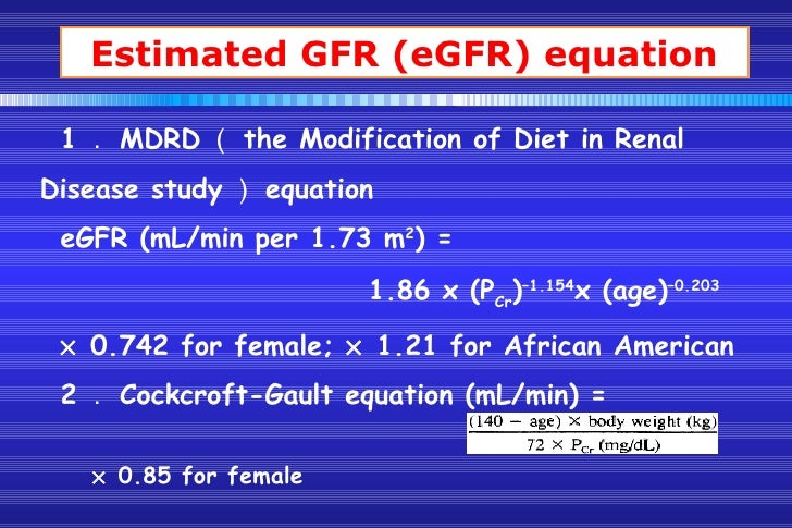 MDRD Study Equation | National Kidney Foundation