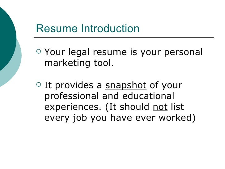 law career services presents resume 2 - Resume Cover Letter Basics 2