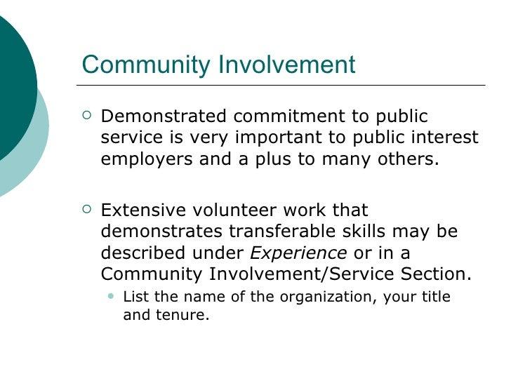 Teacher Resume Community Involvement - Constes.com