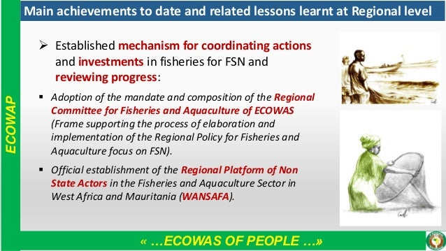 « …ECOWAS OF PEOPLE …» ECOWAP Main achievements to date and related lessons learnt at Regional level ➢ Established mechani...