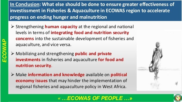 « …ECOWAS OF PEOPLE …» ECOWAP In Conclusion: What else should be done to ensure greater effectiveness of investissment in ...