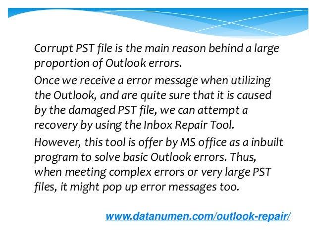 Solution to Fix Scanpst Error