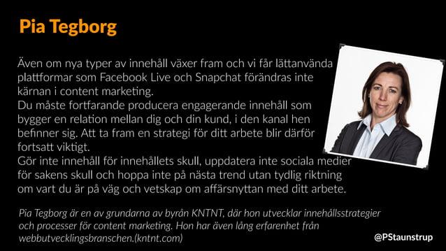 Även om nya typer av innehåll växer fram och vi får läJanvända plaxormar som Facebook Live och Snapchat förändras inte kär...