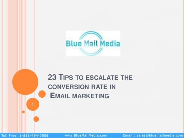 23 TIPS TO ESCALATE THE CONVERSION RATE IN EMAIL MARKETING 1