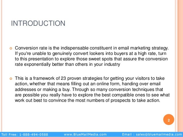 INTRODUCTION  Conversion rate is the indispensable constituent in email marketing strategy. If you're unable to genuinely...