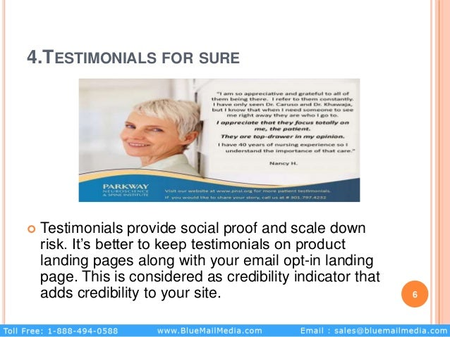 4.TESTIMONIALS FOR SURE  Testimonials provide social proof and scale down risk. It's better to keep testimonials on produ...