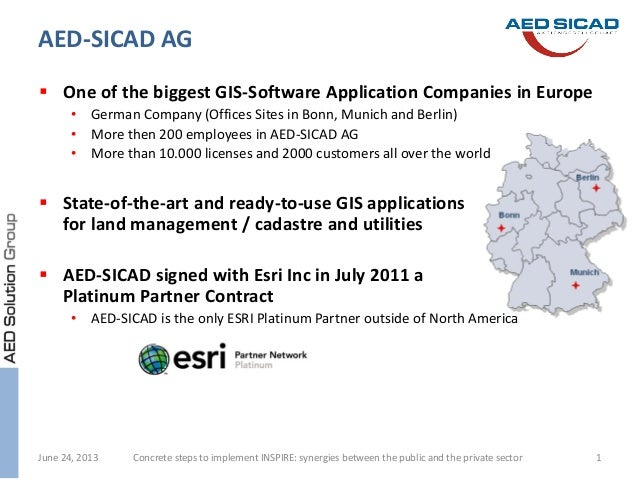  One of the biggest GIS-Software Application Companies in Europe • German Company (Offices Sites in Bonn, Munich and Berl...