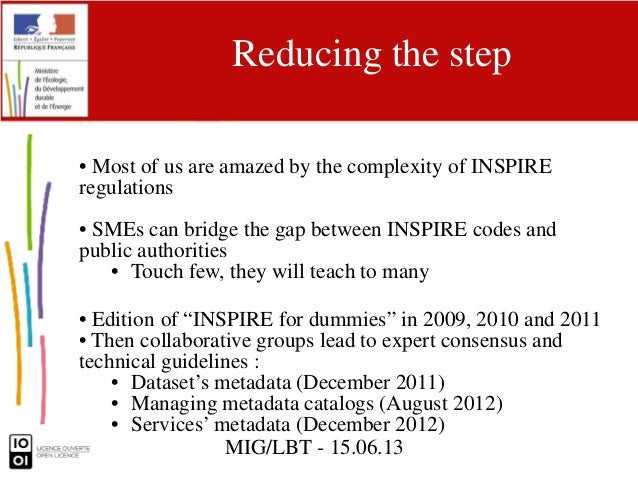 Building on Infrastructure for spatial information : A good story about INSPIRE and SMEs Slide 2