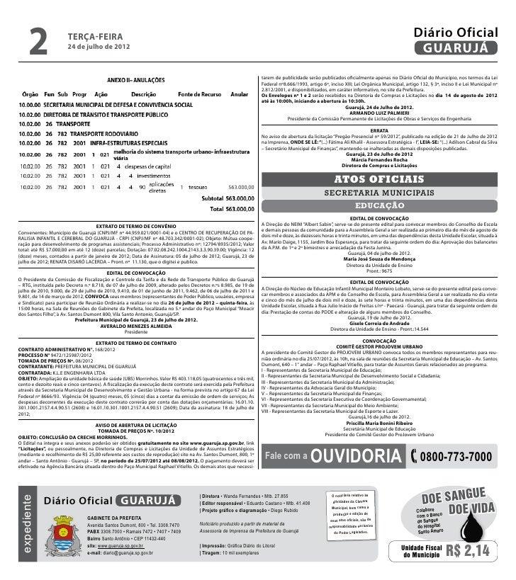 Diário Oficial de Guarujá - 24-07-2012 Slide 2