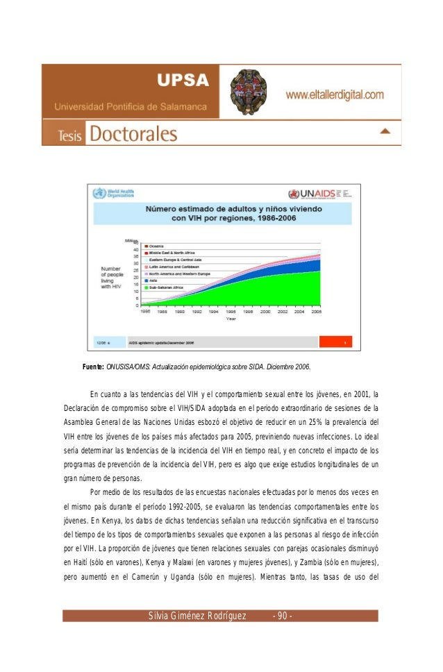 Silvia Giménez Rodríguez - 90 - Fuente: ONUSISA/OMS: Actualización epidemiológica sobre SIDA. Diciembre 2006. En cuanto a ...